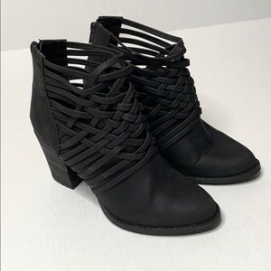 Mossimo   Black   Booties   Ankle Boots